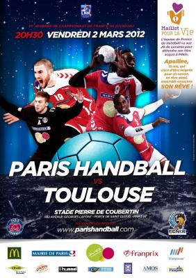 PARIS HANDBALL - TOULOUSE Championnat de France de Handball
