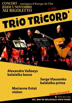 Trio Tricord' le charme de la balalaïka