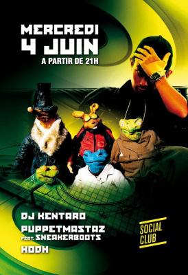 Soirée, Paris, DJ Kentaro, Kodh, Boulaone, Social Club