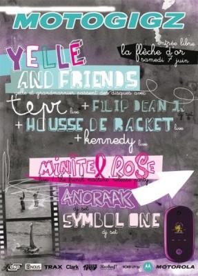 Soirée, Paris, Motogigz, Flèche d'Or, Yelle, Grand Marnier, Minitel Rose