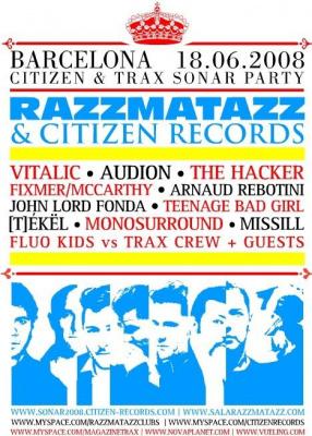 Festival, Eté, Sonar, Espagne, Barcelone, Musique électronique, Razzmatazz, Citizen