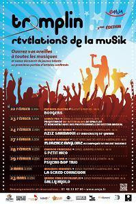 Tremplin Révélations de la Musik - catégorie chanson française