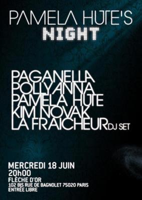 Concert, Paris, Flèche d'Or, Pamela Hute, Paganella, Pollyanna, Kim Novak, La Fraicheur