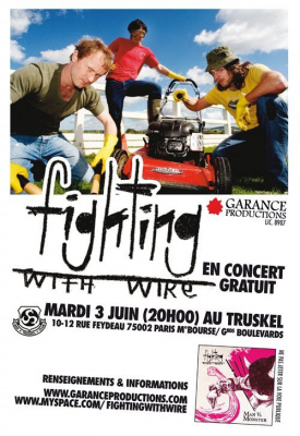 Concert, Paris, Fighting with Wire, Truskel