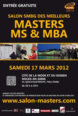Salon SMBG 2012 des Meilleurs Masters, MS et MBA