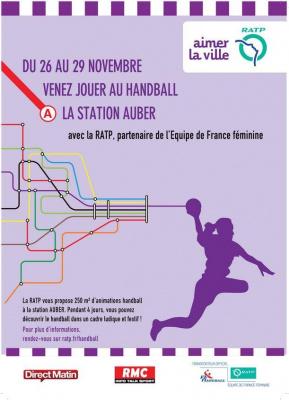 Handball Park à la sation Auber avec la RATP