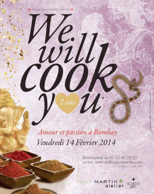 We Will Cook You spéciale Saint Valentin à l'Atelier Guy Martin