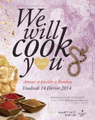 We Will Cook You spéciale Saint Valentin à l'Atelier Guy Martin