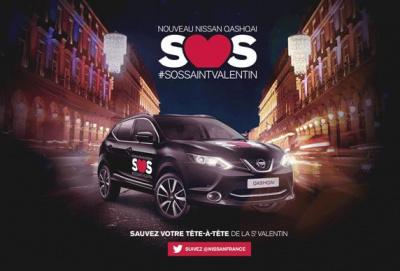 La tournée Nissan #QASHQAI #SOSsaintvalentin