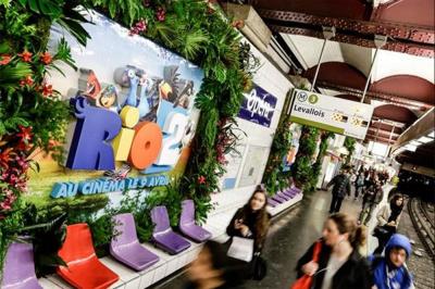 RIO 2 - La forêt amazonienne dans le métro !