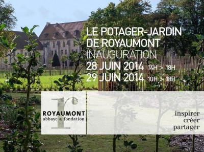 Inauguration du troisième jardin de l'abbaye de Royaumont