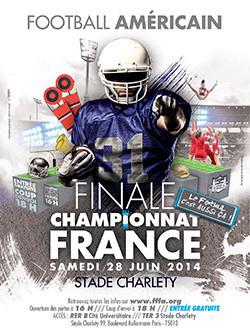 Finale du Championnat de France de Football Américain 2014 au Stade Charlety
