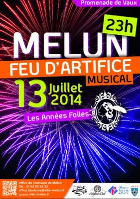 Feu d'artifice du 14 Juillet 2014 à Melun
