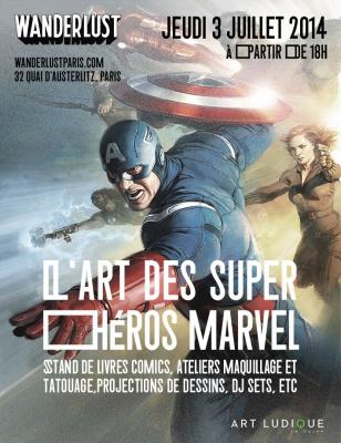 L'Art des Super-Héros Marvel au Wanderlust