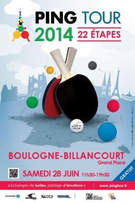 Le PING TOUR 2014 à Boulogne-Billancourt