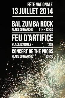 Feu d'artifice du 14 Juillet 2014 à Versailles