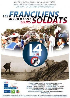 Les Franciliens accueillent leurs soldats le 14 juillet 2014
