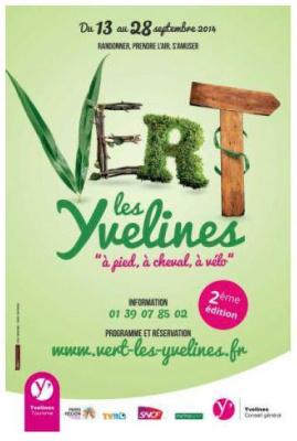 Vert les Yvelines 2014, 3 week-ends rando à pied, à cheval ou à vélo