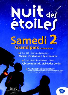 Nuits des étoiles 2014 : Centre de culture scientifique Atlas de Saint-Ouen