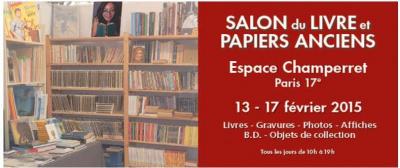 Salon du livre et papiers anciens 2015 l 39 espace for Salon porte de champerret 2015