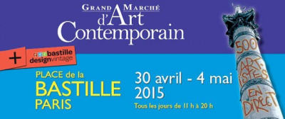 Grand Marché d'Art Contemporain 2015 à la Bastille
