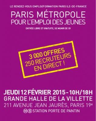 Paris m tropole pour l emploi des jeunes 2015 - Salon emploi paris 2015 ...