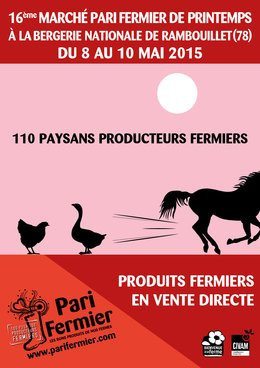 Pari Fermier de printemps 2015 à la Bergerie Nationale