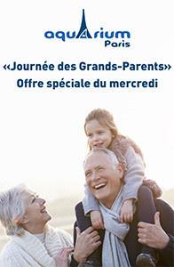 Journée des Grands-Parents, tous les mercredis à l'Aquarium de Paris