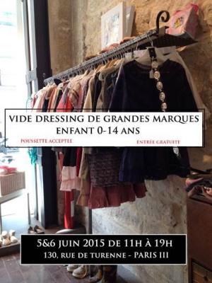 Vide dressing pour enfants au Dépôt Bobo rue de Turenne
