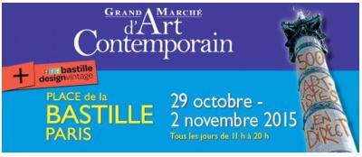 Grand Marché d'Art Contemporain 2015 à la Bastille