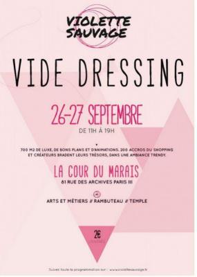 Vide dressing Géant Violette Sauvage à la Cour du Marais