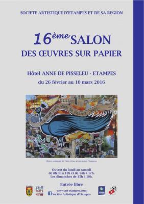 Salon des Œuvres sur Papier 2016 à Etampes