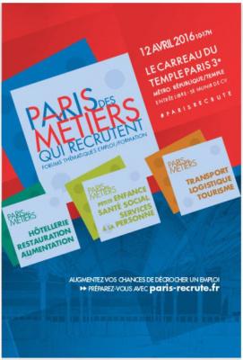 Forum Paris des métiers qui recrutent au Carreau du Temple