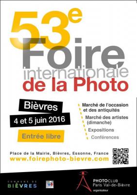 La Foire internationale de la Photo de Bièvres revient en 2016