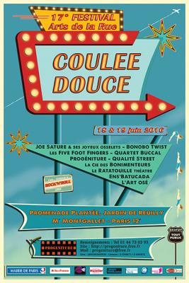 """Festival """"Coulée Douce"""" 2016 dans le 12e arrondissement de Paris"""
