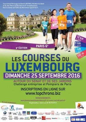 Les Courses du Luxembourg 2016 - les inscriptions sont ouvertes