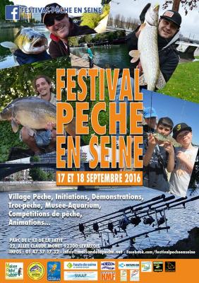 Festival Pêche en Seine 2016 sur l'Ile de la Jatte