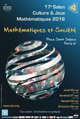 Salon Culture & Jeux Mathématiques 2016 sur la Place Saint Sulpice