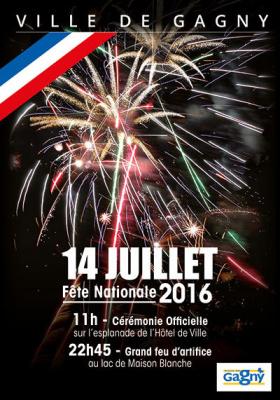 Feu d'artifice du 14 Juillet 2016 à Gagny