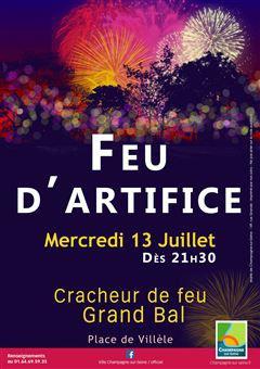 Feu d'artifice du 14 juillet 2016 à Champagne-sur-Seine