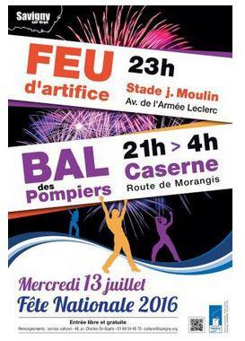 Feu d'artifice du 14 juillet 2016 à Savigny-sur-Orge