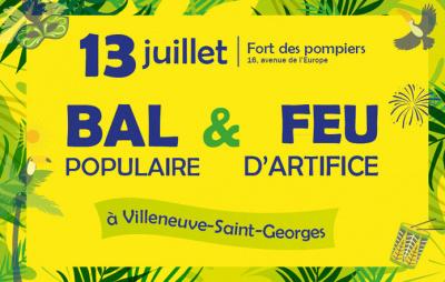 Feu d'artifice du 14 Juillet 2016 à Villeneuve-saint-Georges