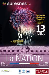 Feu d'artifice du 14 Juillet 2016 à Suresnes