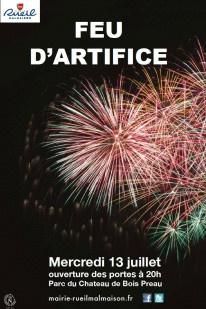 Feu d'artifice du 14 Juillet 2016 à Rueil-Malmaison