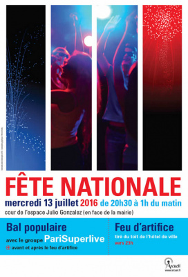 Feu d'artifice du 14 Juillet 2016 à Arcueil