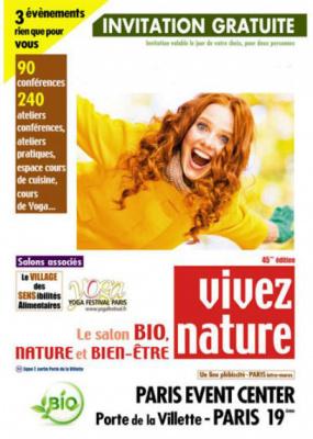 Le salon vivez nature paris 2017 au paris event center for Salon vivez nature lyon 2017