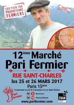 Pari fermier printemps 2017 Rue Saint Charles, Paris 15e