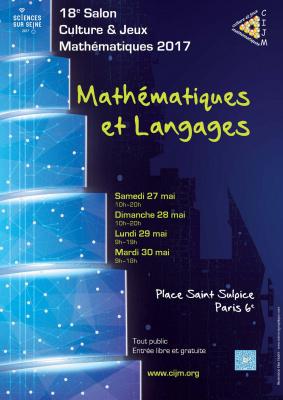 Salon Culture & Jeux Mathématiques 2017 sur la Place Saint Sulpice