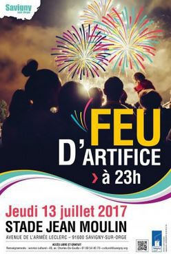 Feu d'artifice du 14 juillet 2017 à Savigny-sur-Orge