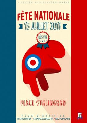 Feu d'artifice du 14 Juillet 2017 à Neuilly-sur-Marne